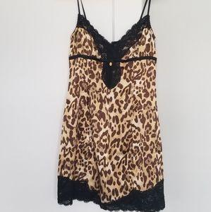 Marciano Leopard Lace Slip Dress, Size M